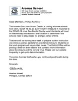 Aromas School Closure