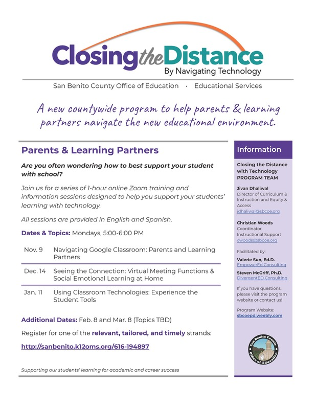 Closing the Distance Program