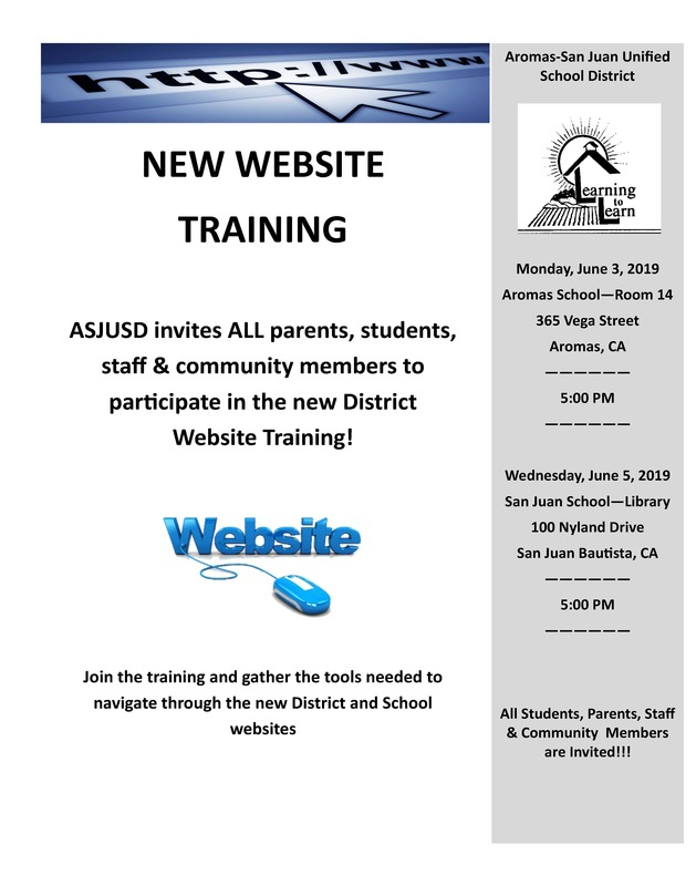 New Website Training