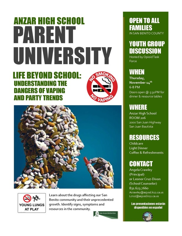 Fall Parent University - November 14th